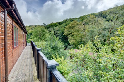 A verandah runs along two sides of the lodge to give you a bird's eye view from which to survey the river