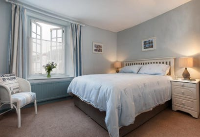 Spacious Master Bedroom giving a couple a comfortable night's sleep in Shaldon village