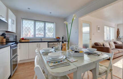 The open plan kitchen and sitting room make entertaining the family sociable and fun!