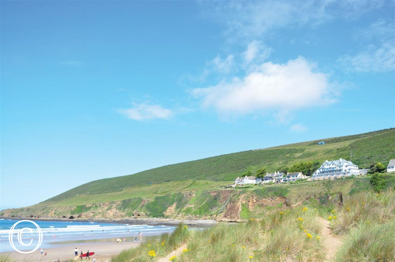 A view of The Tides from Saunton beach