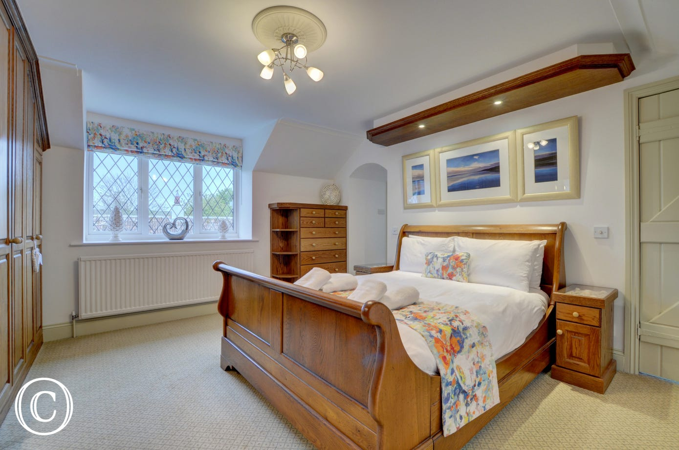 The impressive master bedroom with benefits from a spacious en suite bathroom
