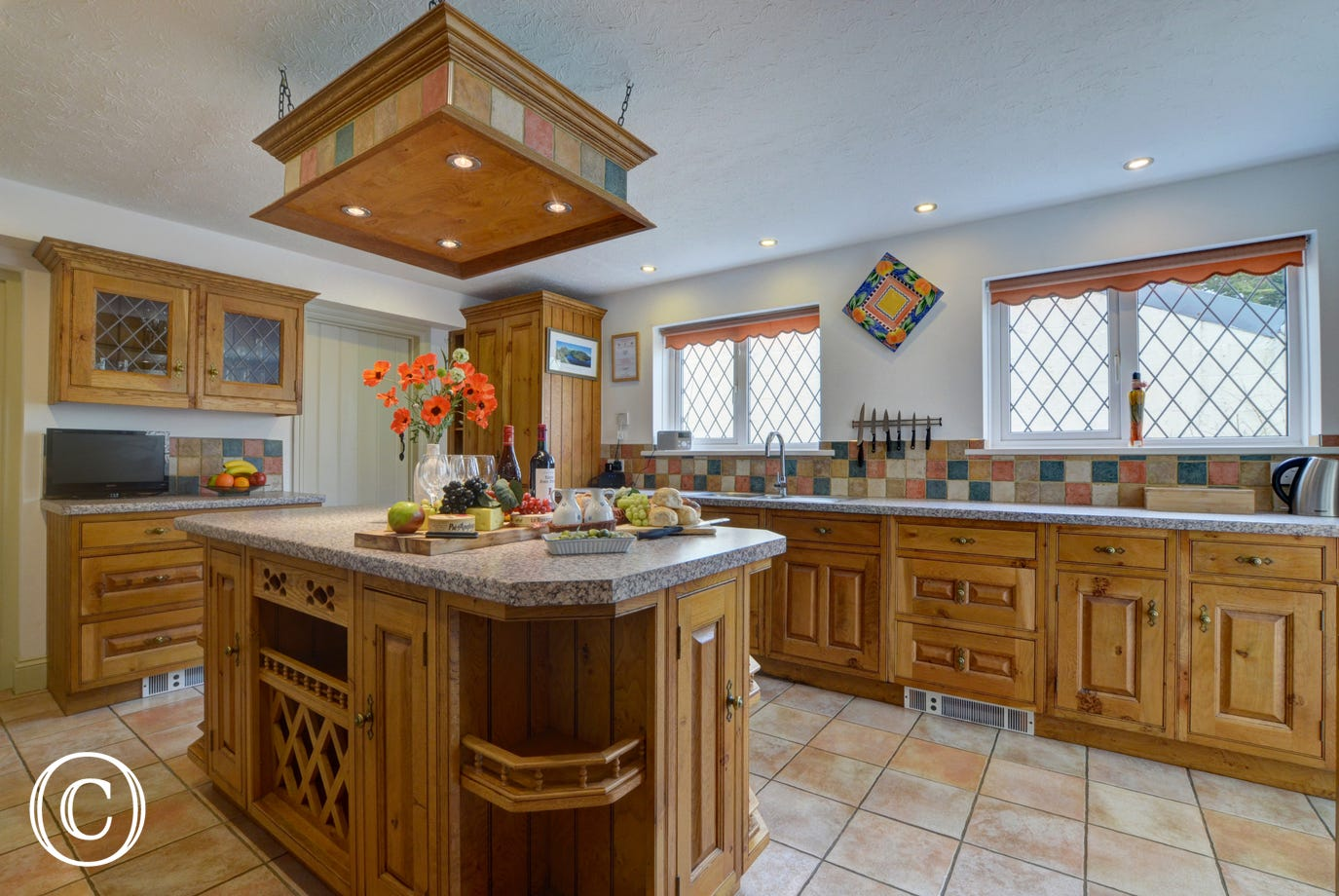 The large country style kitchen