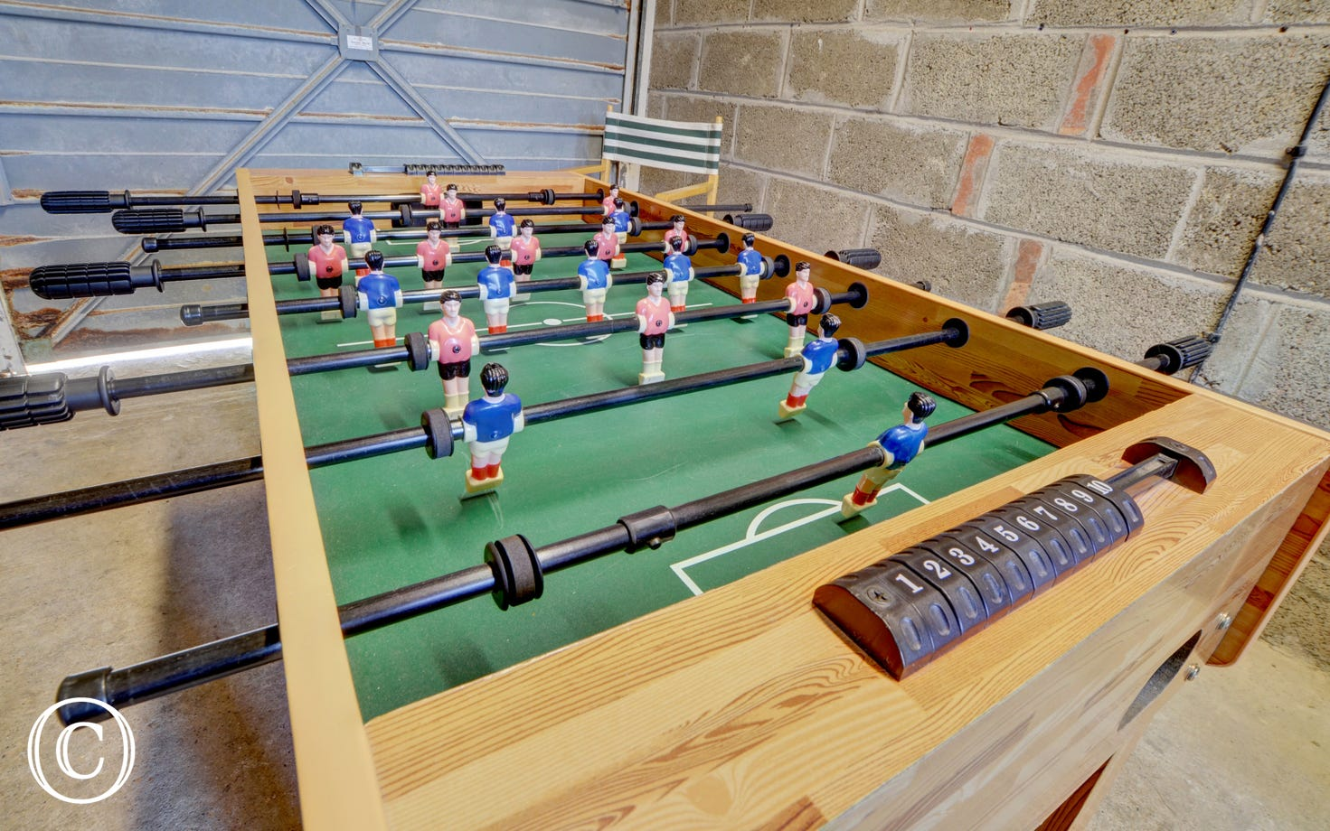 The garage offers secure storage for surfboards and bicycles, and there's also a table football for some competitive friendlies!