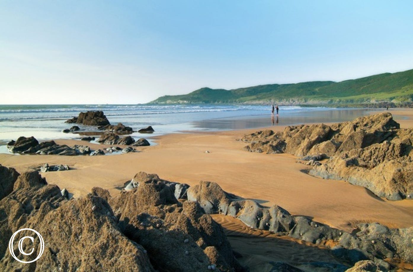 Beautiful Woolacombe beach is a stones throw from the apartment