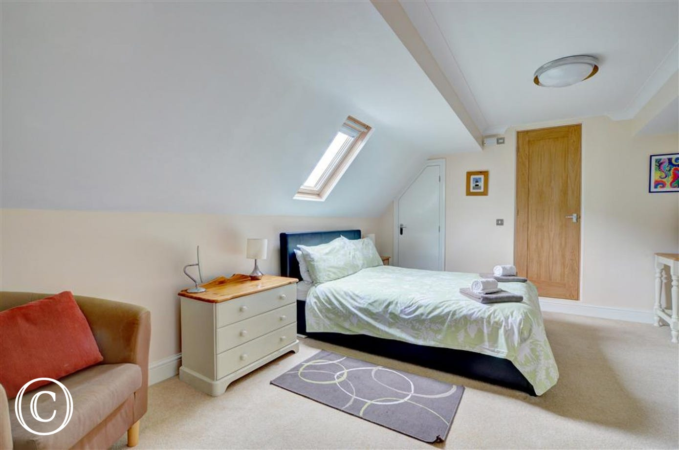 Master bedroom which is spacious and has it's own ensuite bathroom