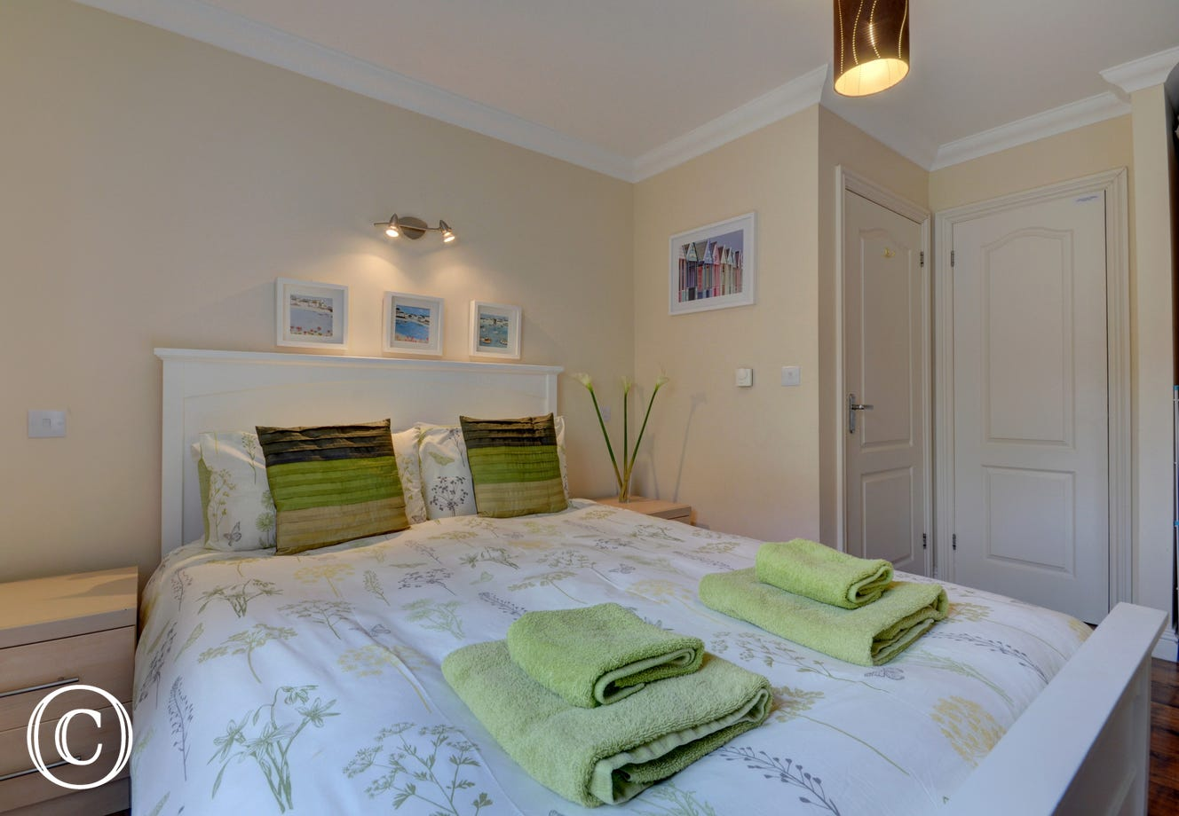 The double bedroom has been recently upgraded with high quality king size bed