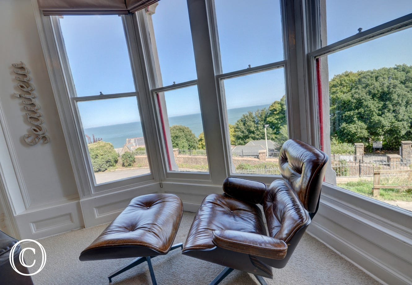 Hard to tear yourself away from the fantastic bay window with beautiful sea views