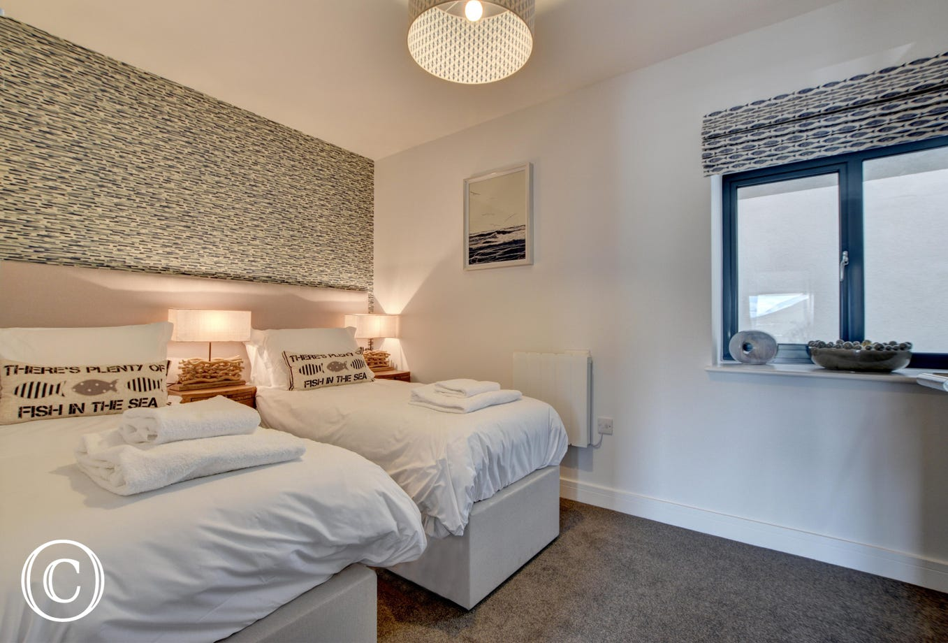 The comfortable twin bedroom which it situated on the first floor