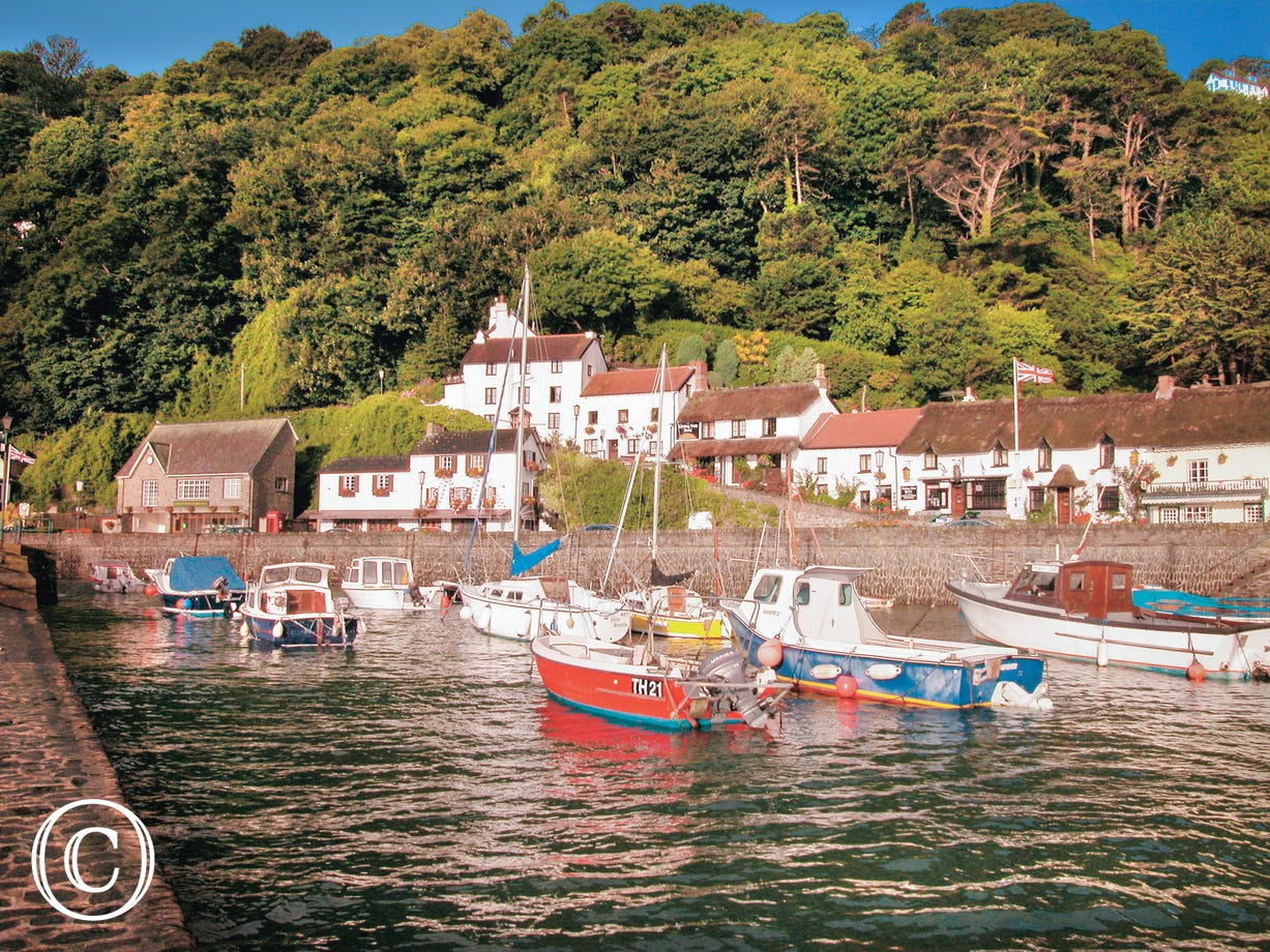 The pretty harbour village of Lynmouth is well worth a visit