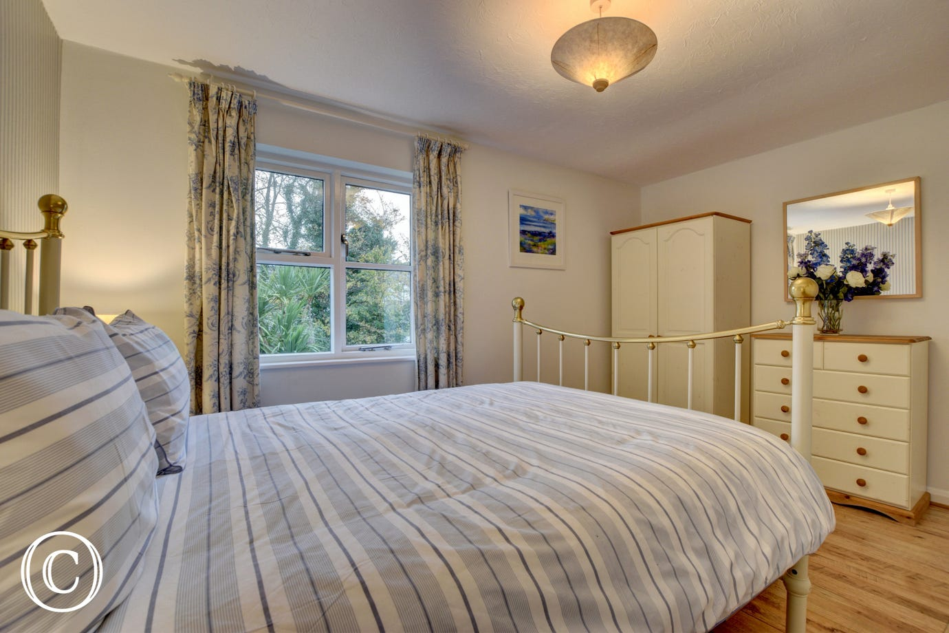 Attractive master bedroom with under floor heating