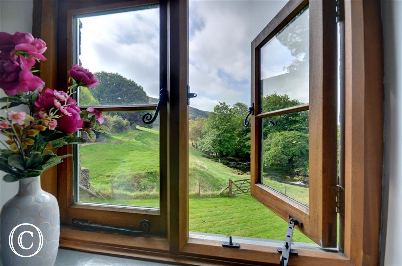 Beautifully country views from the bedroom
