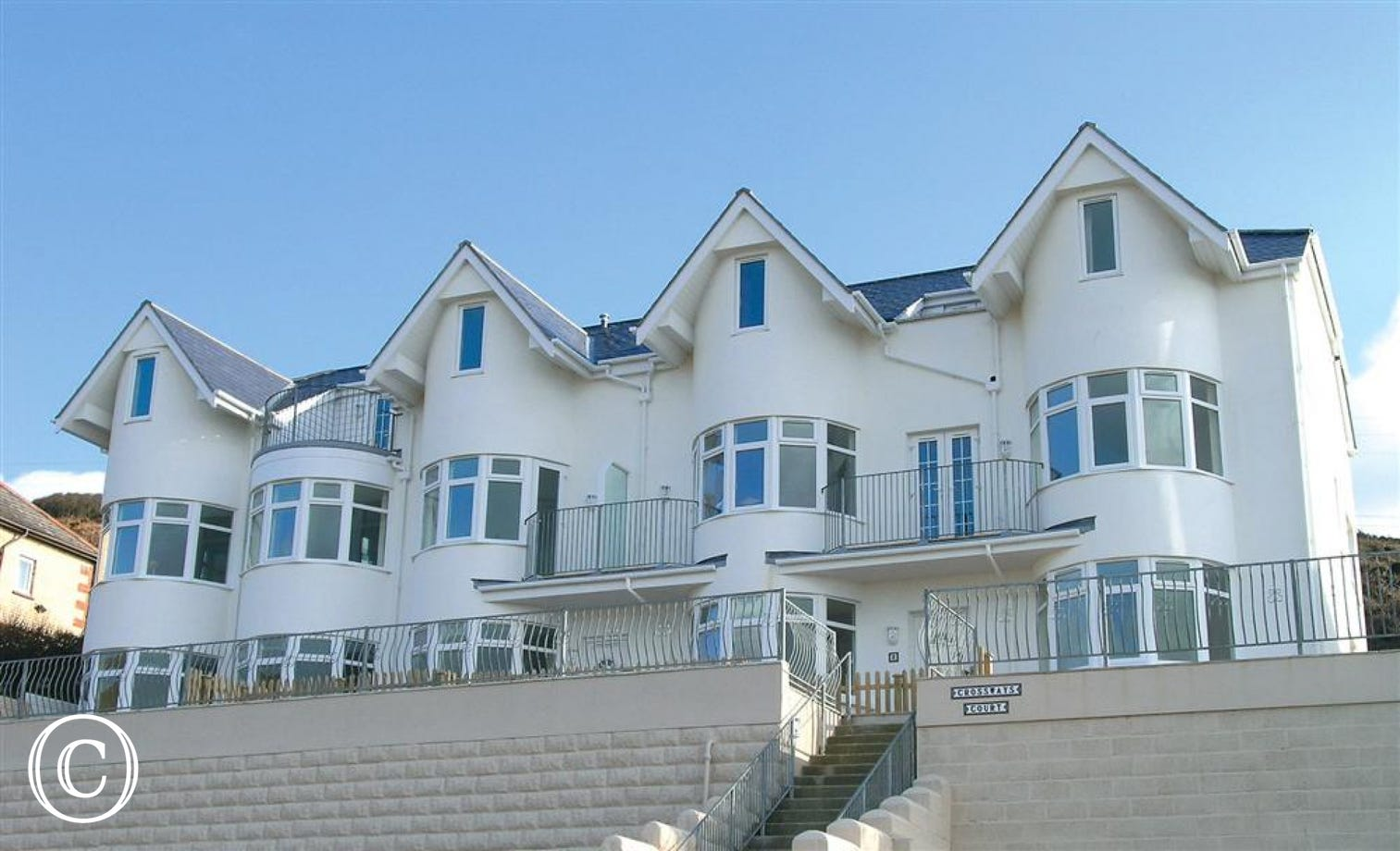 Kittiwake is on the far left hand side of Crossways Court in Woolacombe