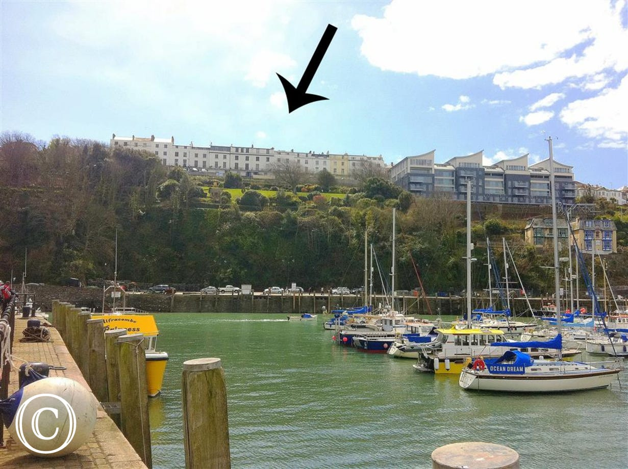 Hillsborough Terrace from Ilfracombe harbour