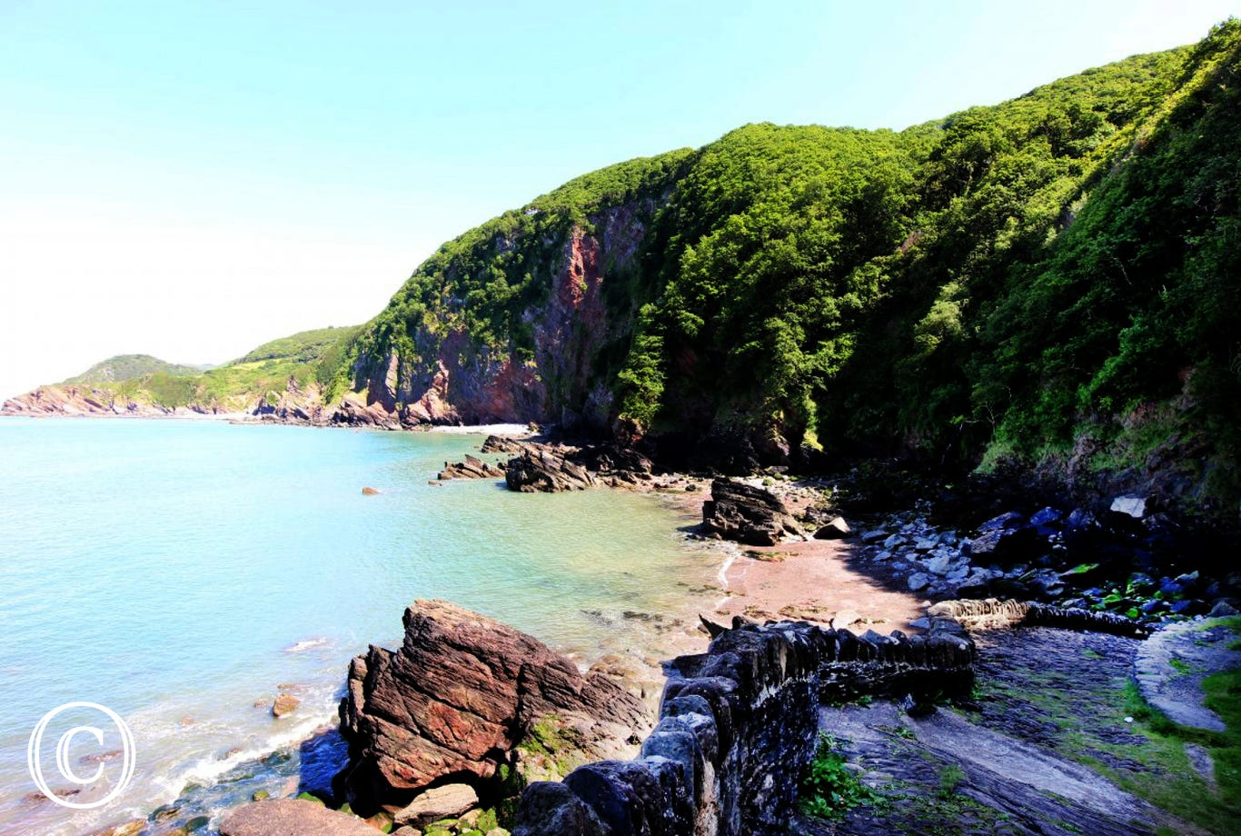 Wood Bay is a few miles from Lynton and is a lovely secluded peaceful spot