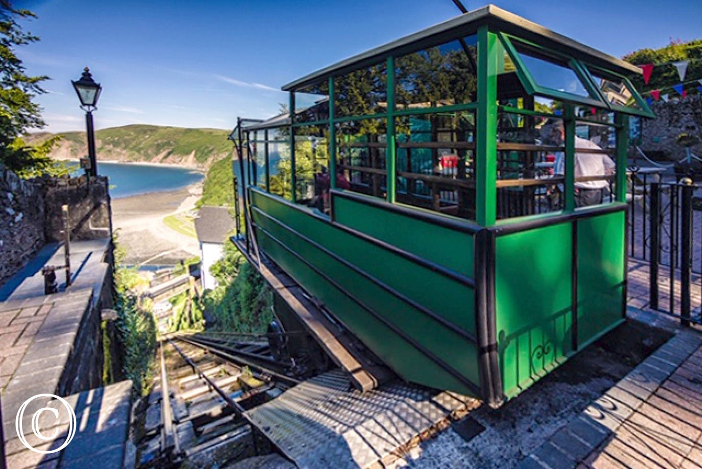 Lynton cliff top railway