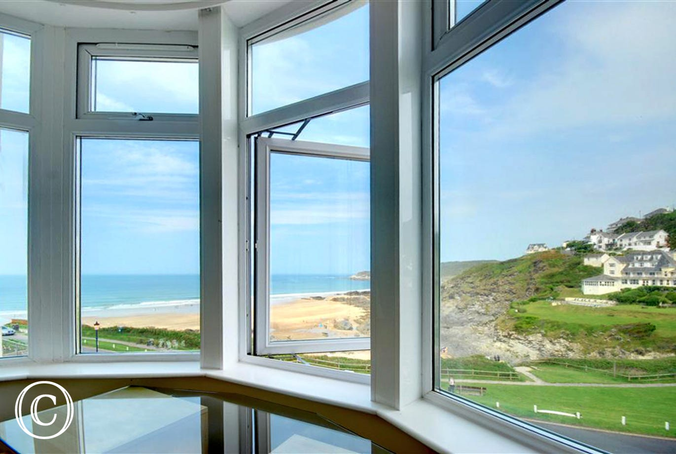 Enjoy the beautiful views from the big bay windows