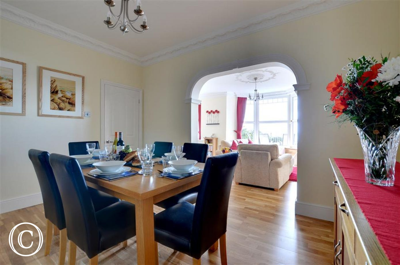 The property benefits from a separate dining room where you can dine in style!