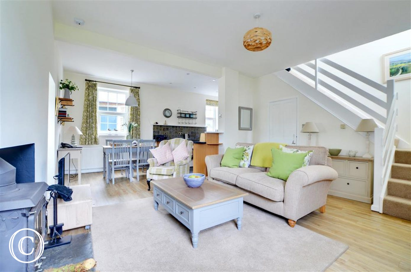 Downstairs, Wykeham comprises of a newly refurbished  open plan living/kitchen/dining room