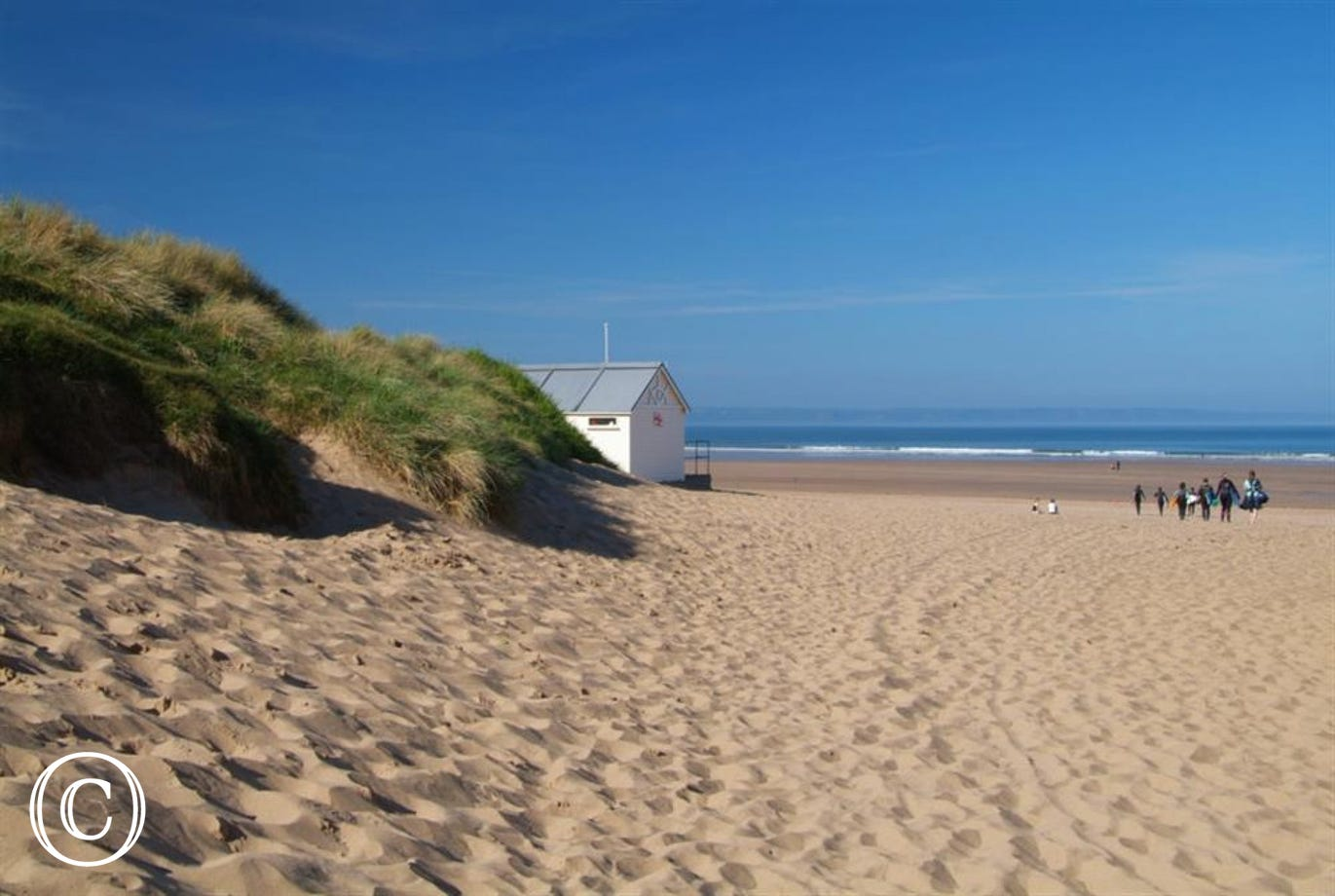 A very short walk to the beautiful surfing beach of Croyde from Beach Cottage