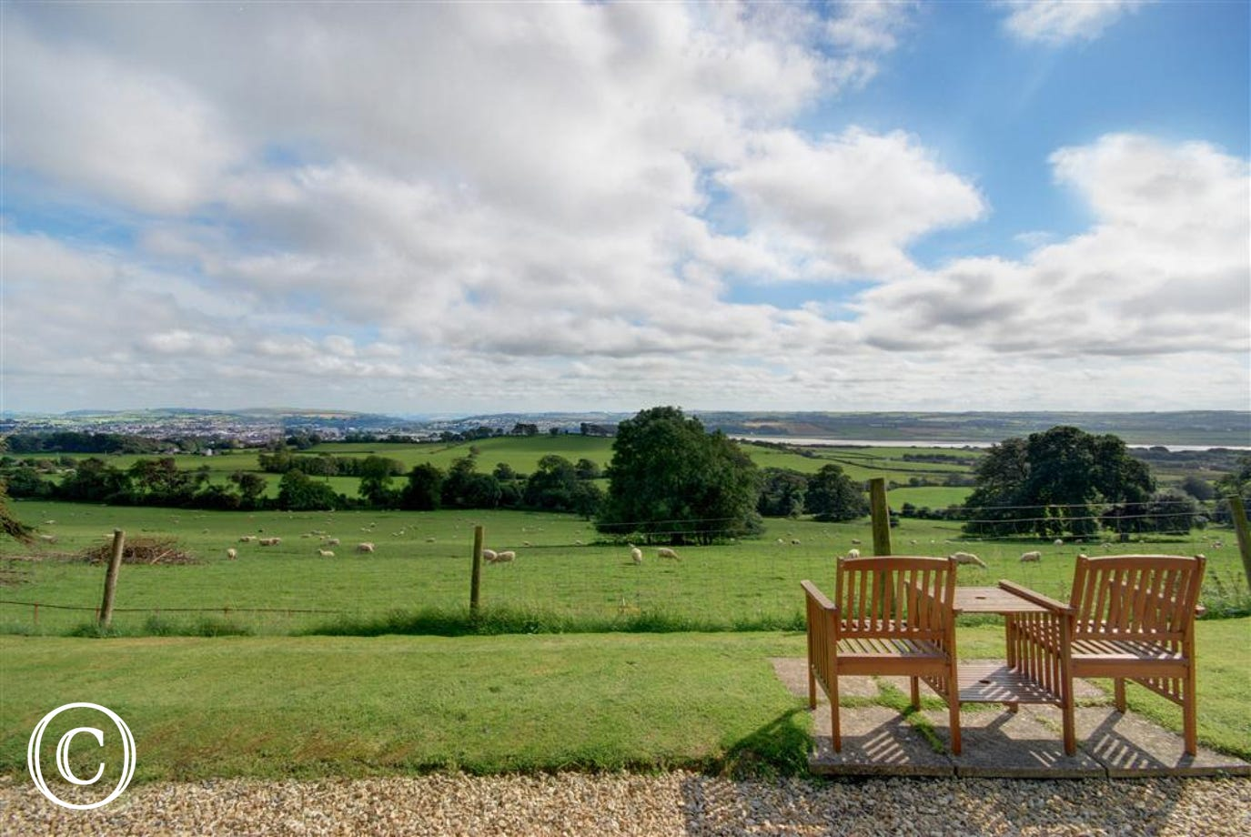 Take an early morning stroll and then sit and enjoy the spectacular estuary views
