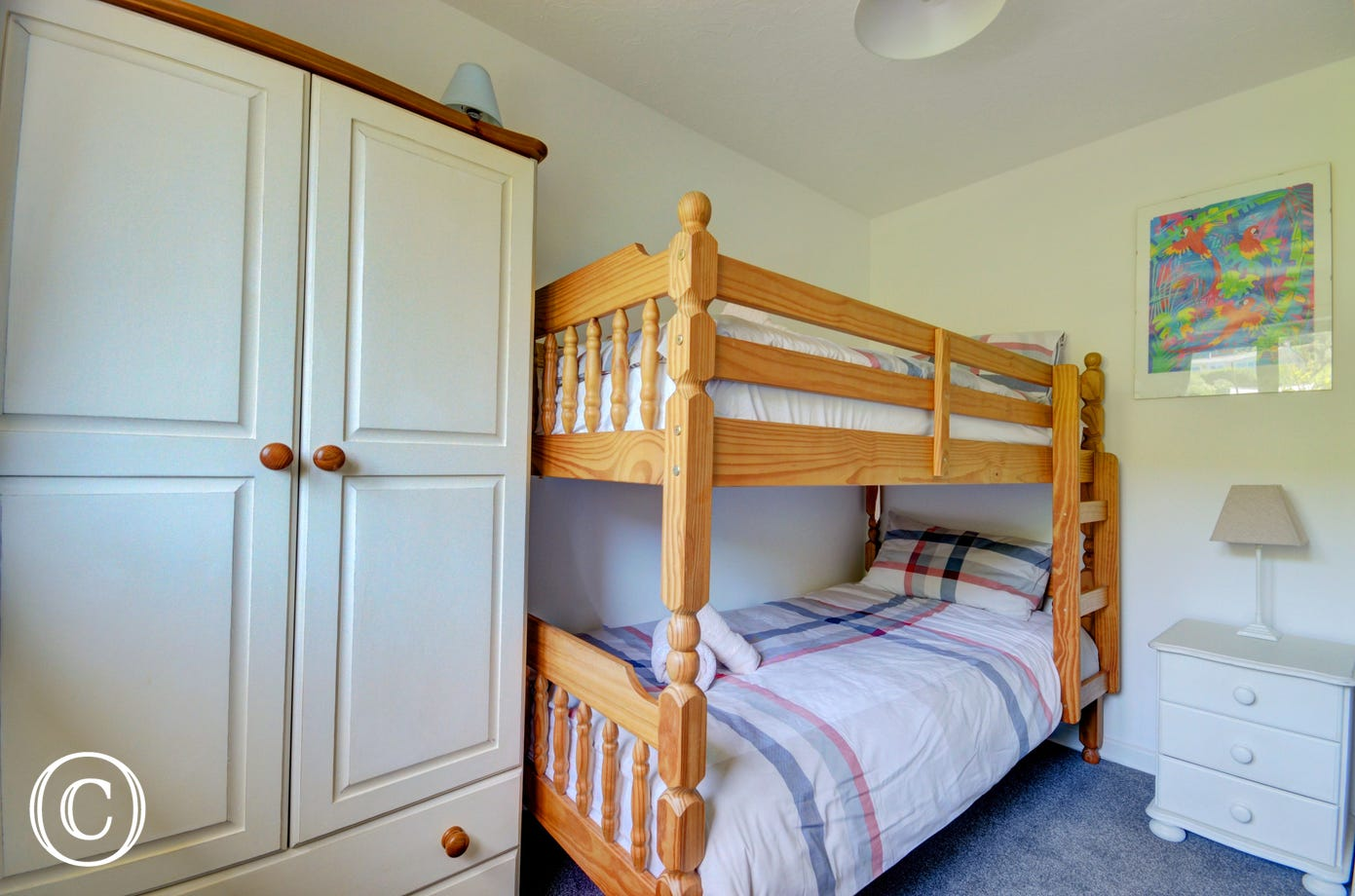 The forth bedroom has bunks which will be a favourite with the children