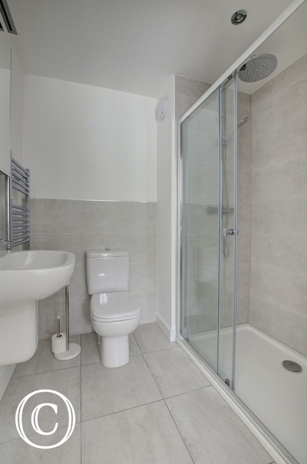 The ground floor ensuite with large walk in shower