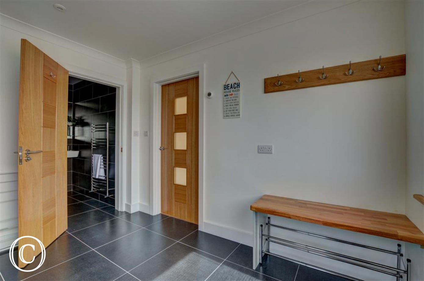 The property also offers a useful utility room
