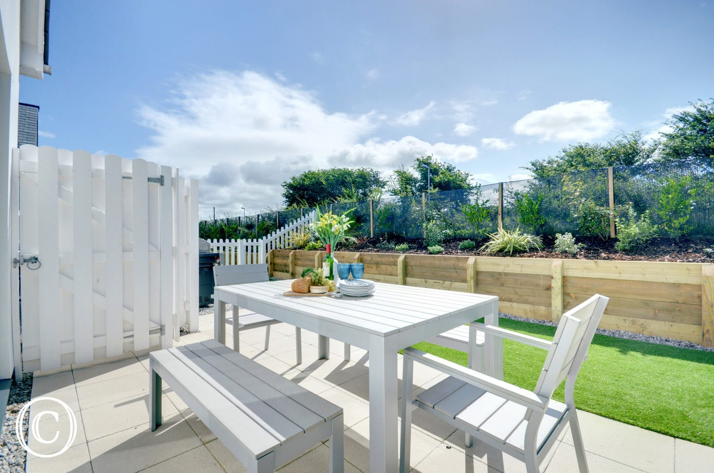 An ideal space to have a BBQ or enjoy a glass of wine at the end of the day