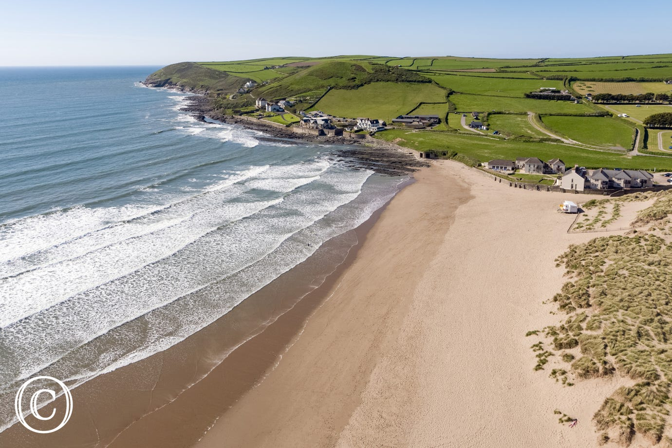 Croyde Beach, just a 25 minute drive away