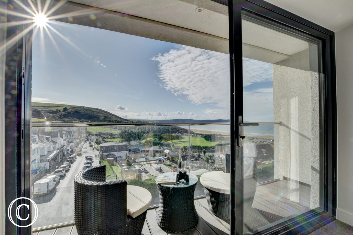Number 5 Byron offers stunning views over Woolacombe Sands