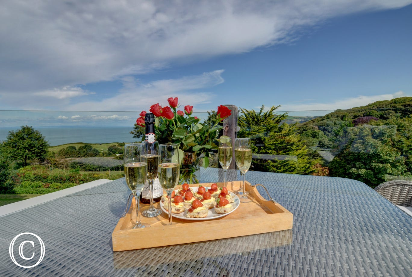 What a perfect place to enjoy a cream tea and a glass of fizz!