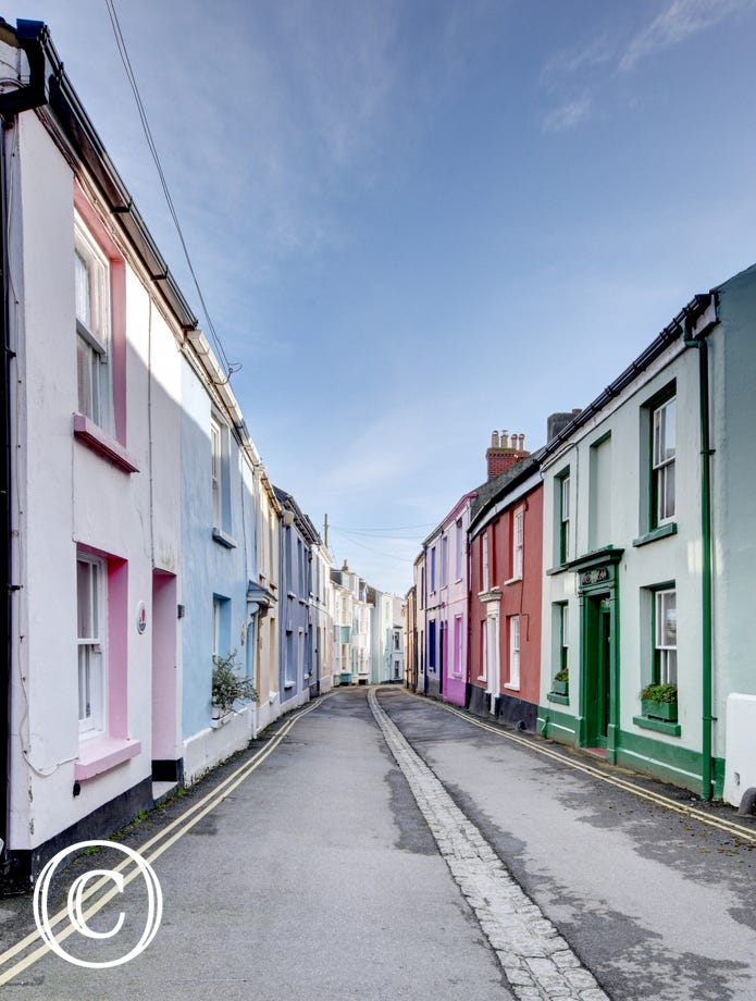 Colourful Irsha Street in Appledore