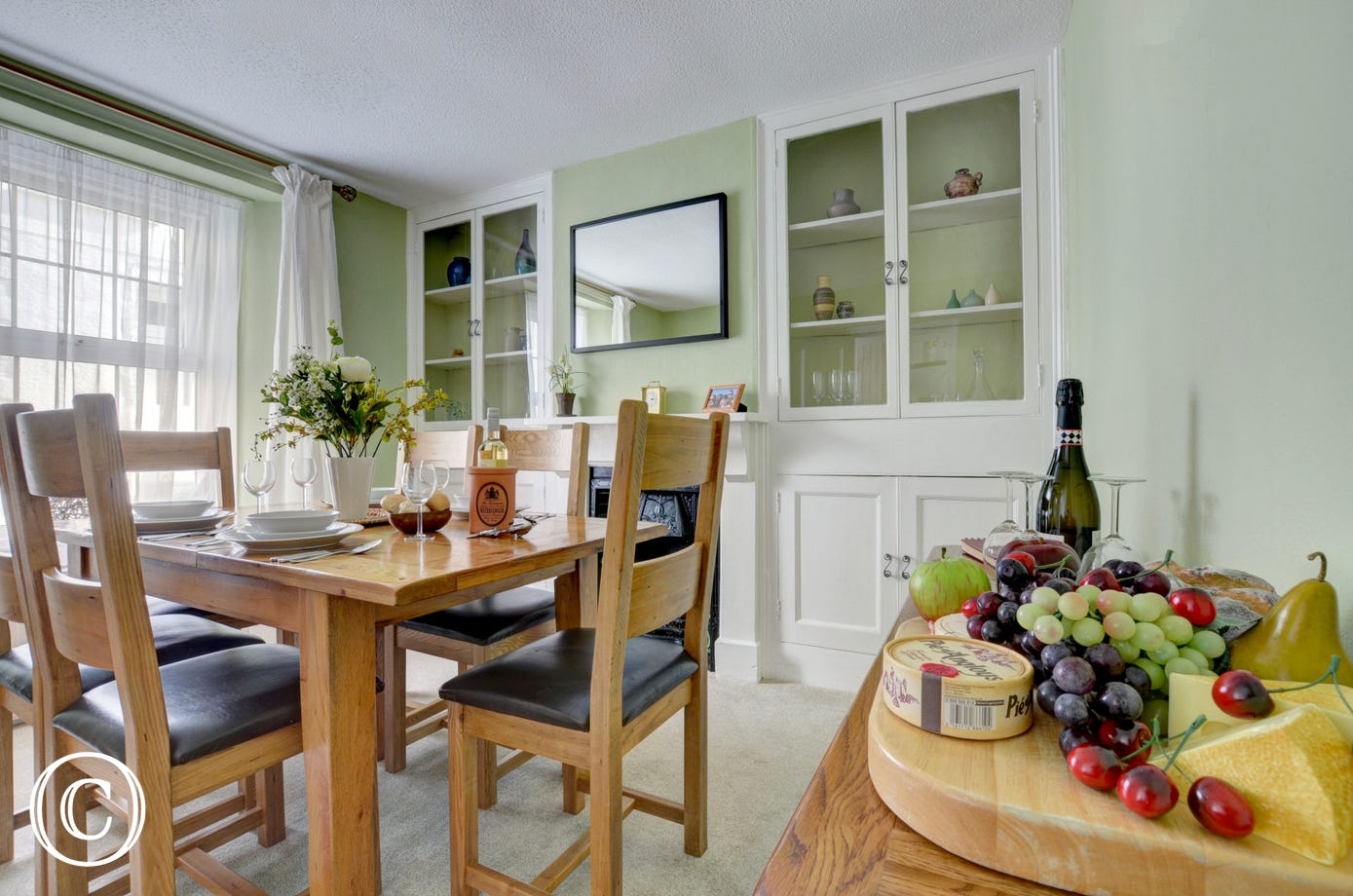 The property benefits from a separate dining room