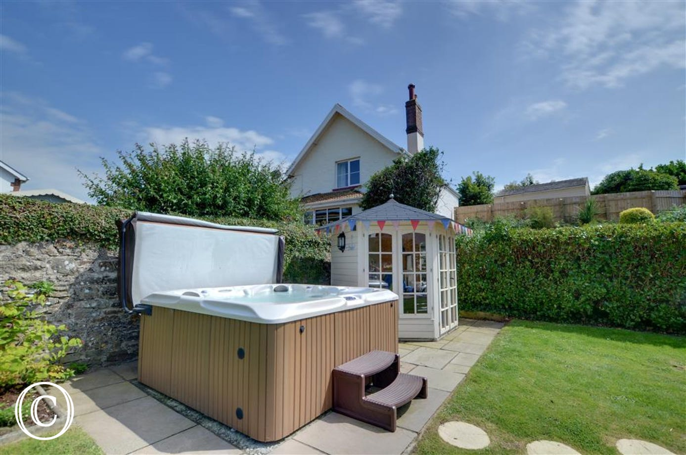 Jump into the hot tub after a day of exploring the beautiful North Devon coastline