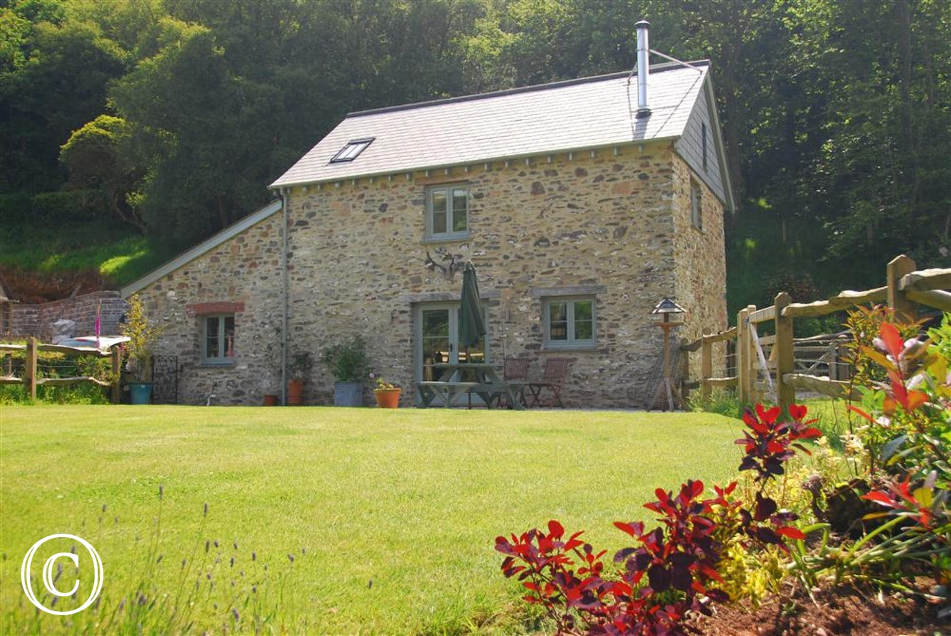 Beautiful stone barn set in 18 acres of countryside