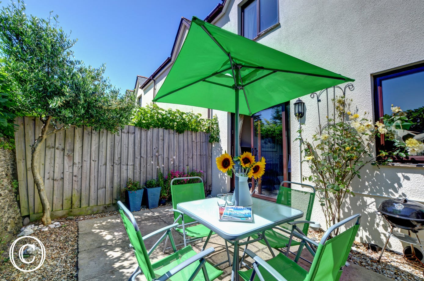 A real suntrap and lovely for breakfast or barbecues