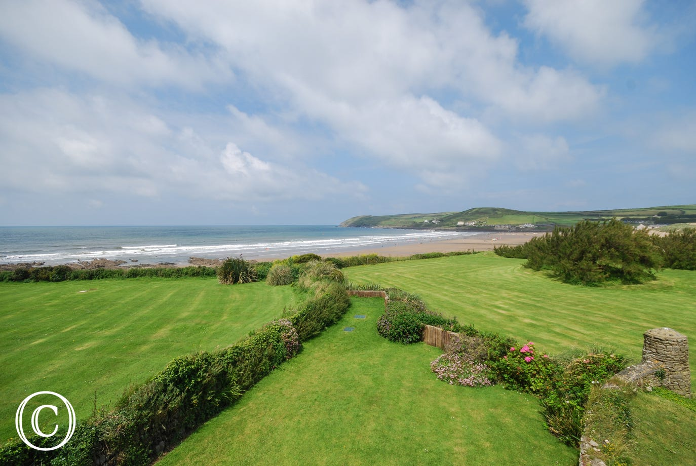 Beautiful views of Croyde Bay and out towards Lundy Island