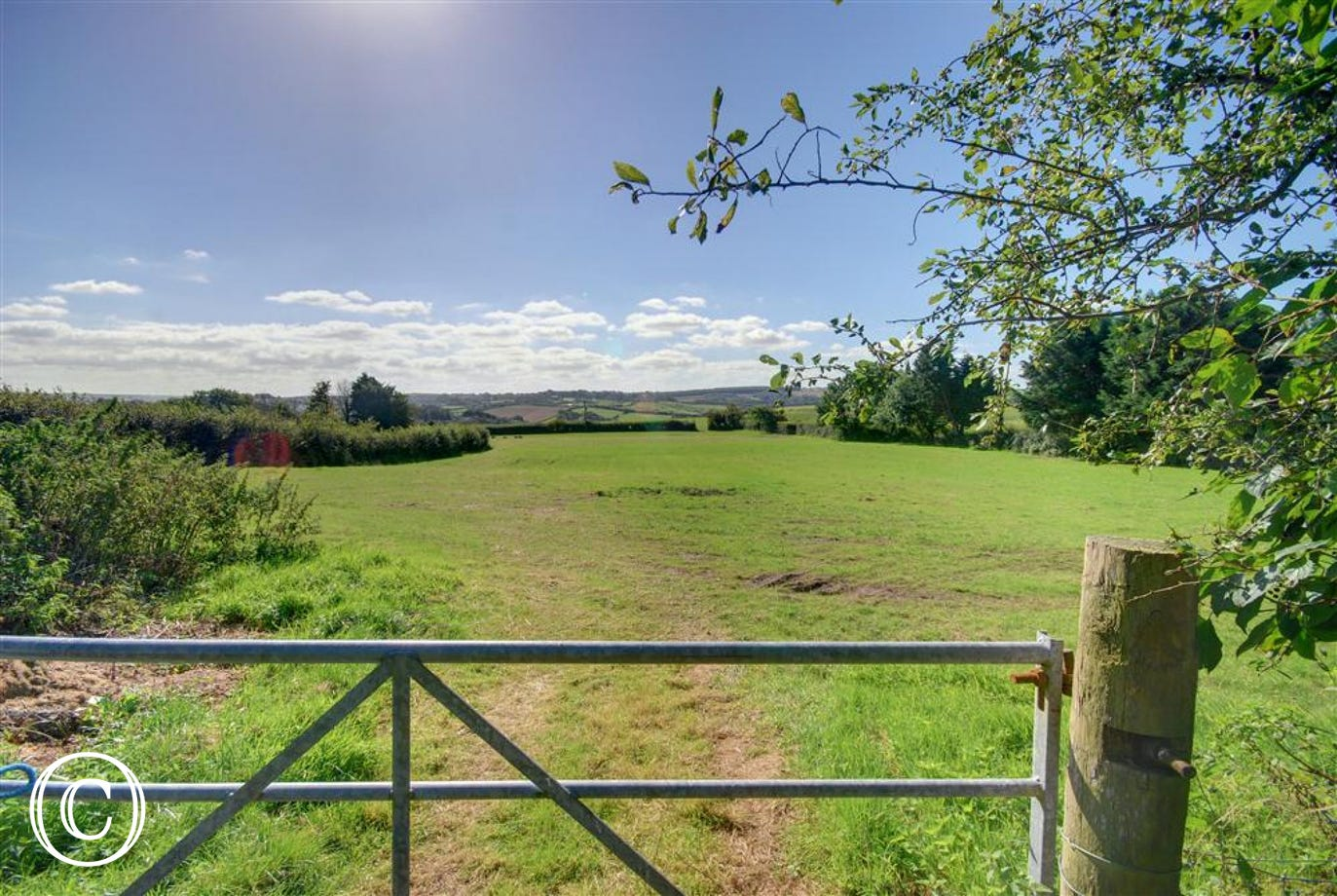 The property is surrounded by beautiful countryside.