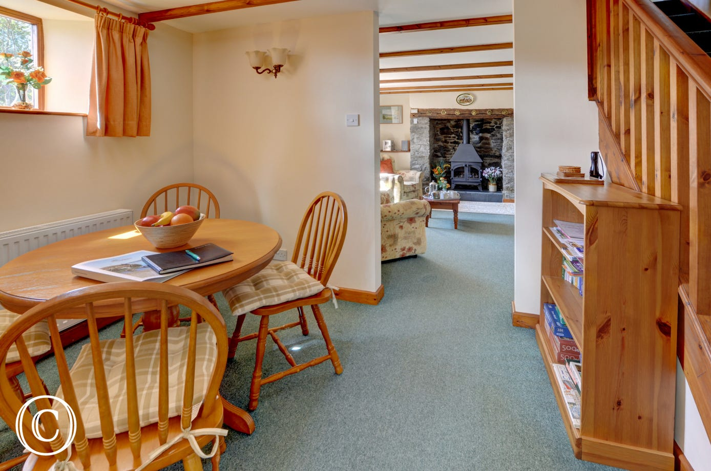 There is separate dining area for leisurely family meals