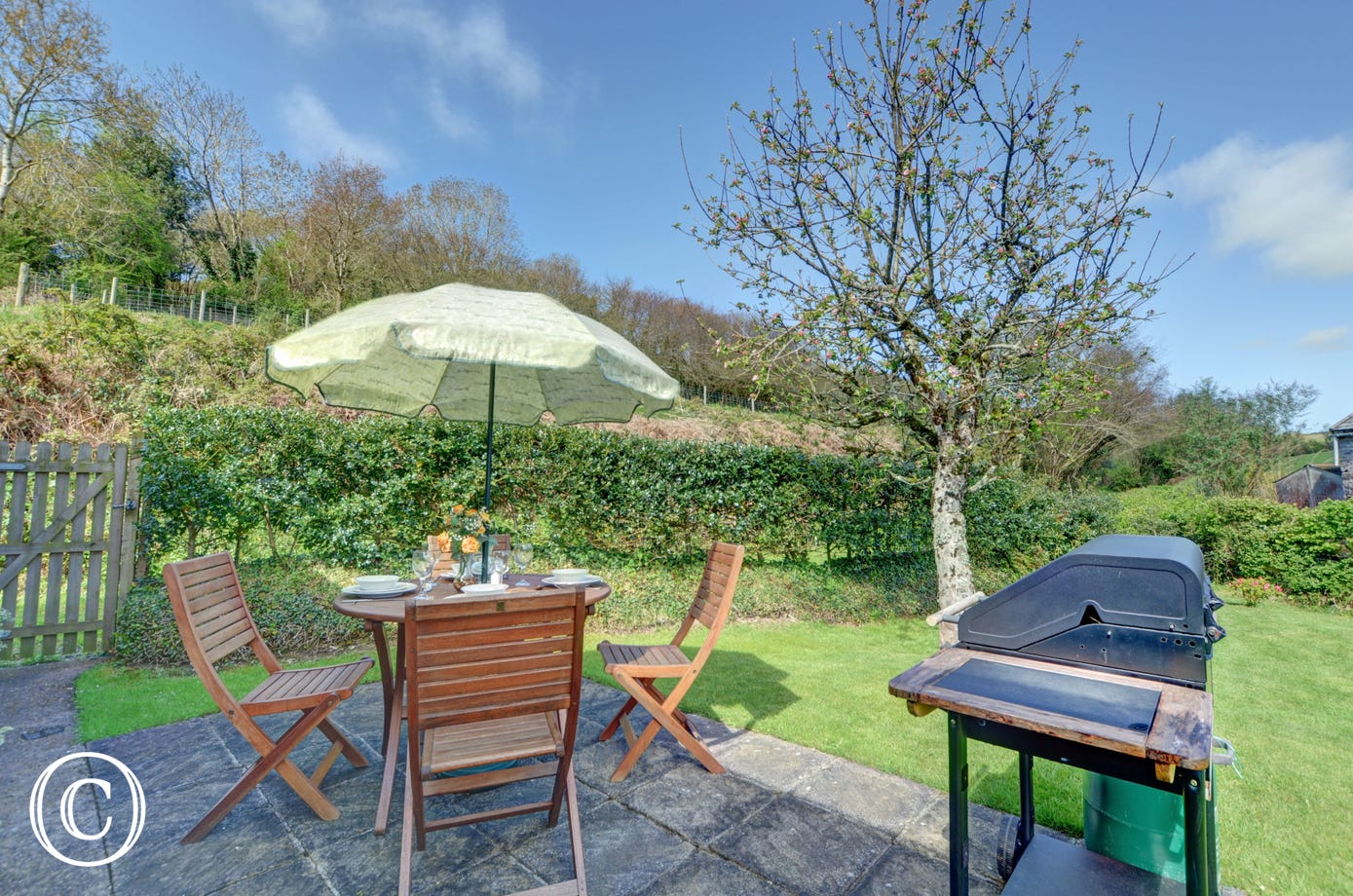 Relax in the rear garden and barbecue on the patio in the summer evenings