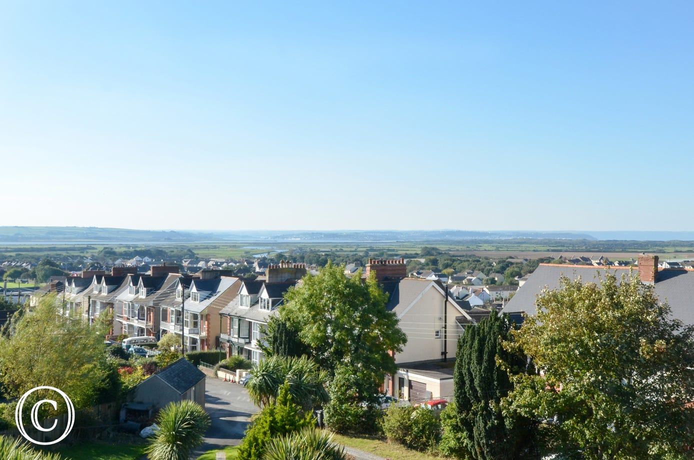 Fantastic views over the village from the property