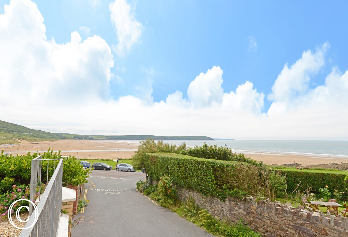The award winning beach of Woolacombe is just a stones throw away