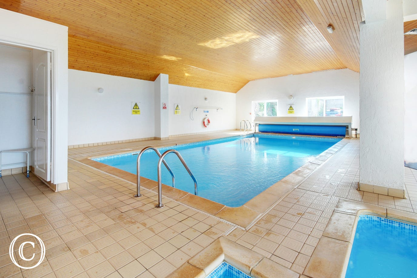 The communal heated indoor swimming pool is a real bonus