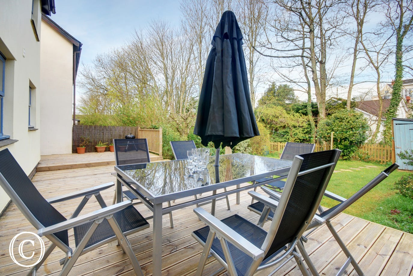 Fabulous decked patio area, just perfect for barbecues and leisurely al fresco meals