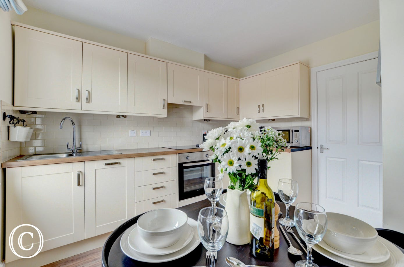 A well equipped kitchen has everything you need for meals with family or friends