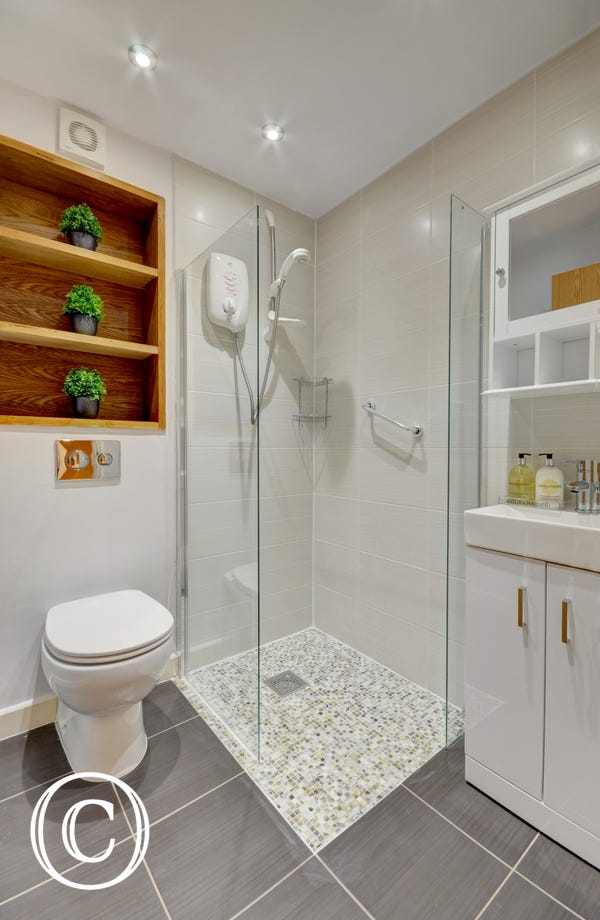 Downstairs contemporary shower room