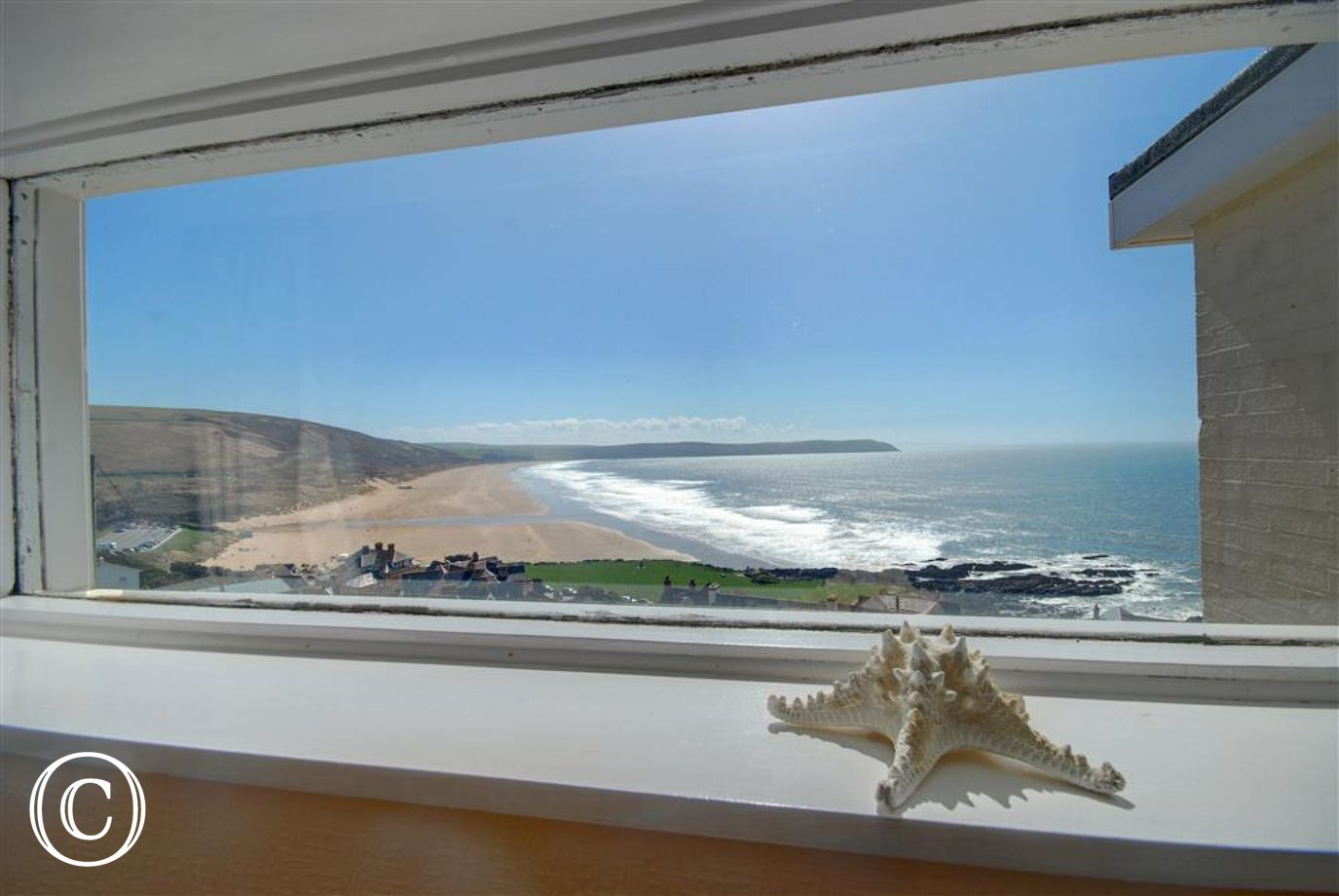 Far reaching sea views towards Putsborough beach from many of the front facing windows