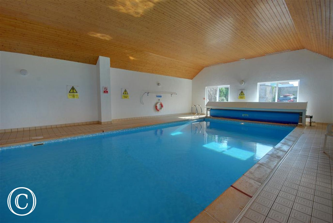 A good-sized heated indoor swimming pool for all the family
