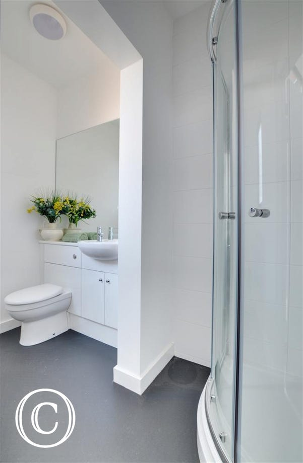 Spacious downstairs shower room