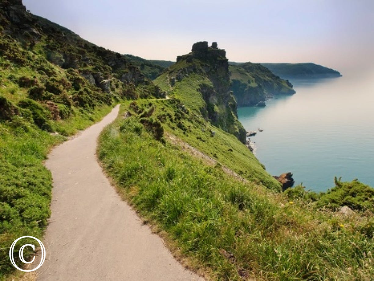 One of the many nearby coastal walks from the property - Valley of the Rocks